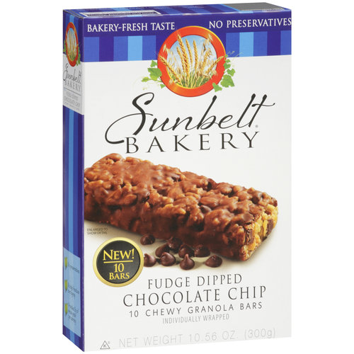 Sunbelt Bakery Fudge Dipped Chocolate Chip Chewy Granola
