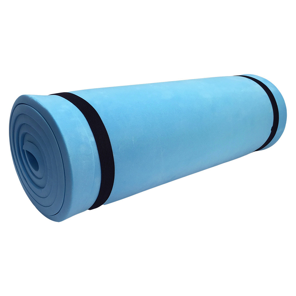 blue 72 x 20 camp pad camping mattress cell foam pad waterproof sleeping bag walmart com