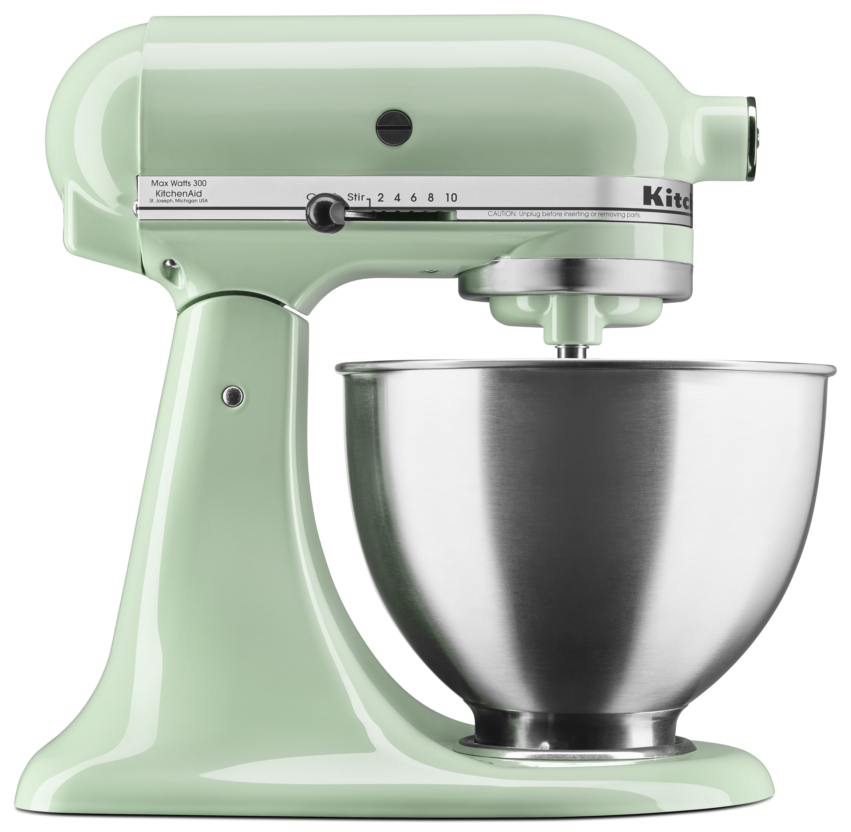 walmart kitchen aid mixer island with wine fridge kitchenaid deluxe 4 5 quart tilt head stand pistachio ksm88pt