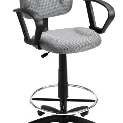 Drafting Office Chair Wire Dining Boss Home Adjustable Loop Arm Stool With Wheel Casters Walmart Com