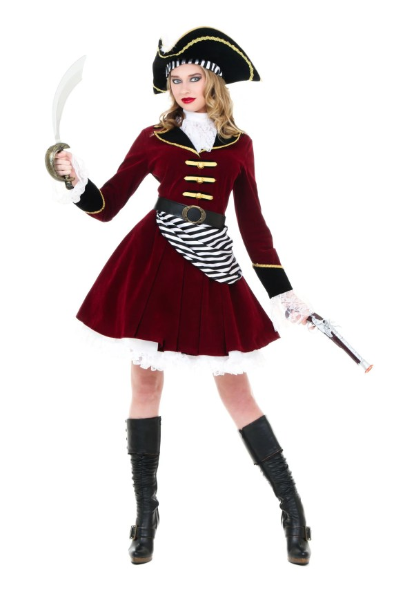 Women' Captain Hook Costume With Hat