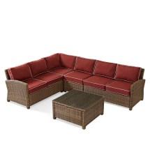 Crosley Furniture Bradenton 5-piece Outdoor Wicker Seating