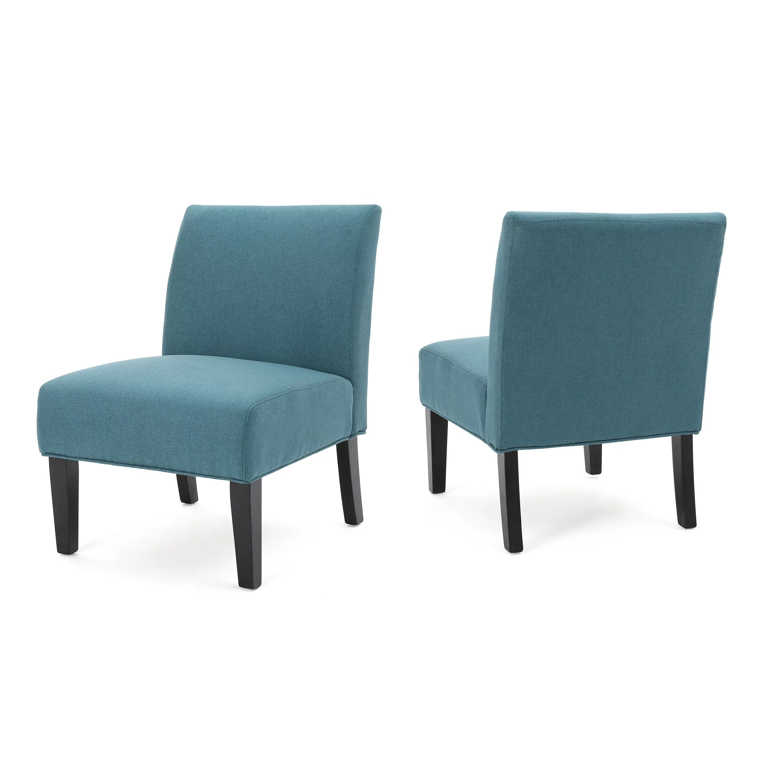 dark teal accent chair space saver table and chairs kendal fabric set of 2 walmart com