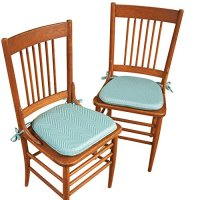 Collections Etc Foam Kitchen Chair Pads with Ties - Set of ...