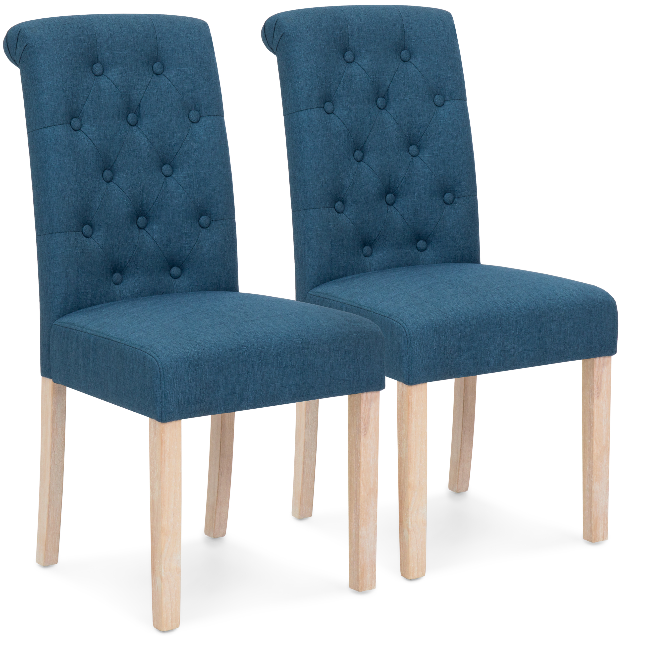 high back tufted chair hon volt with arms best choice products set of 2 parsons dining chairs blue walmart com
