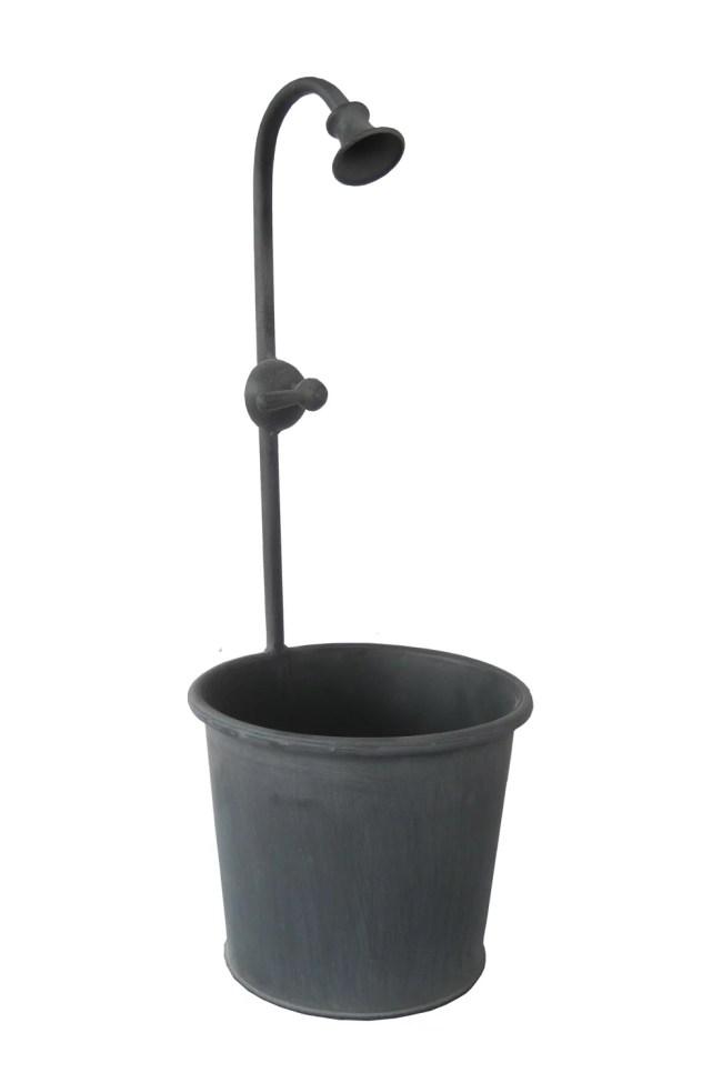 Cheungs Home Lawn Patio Garden Metal Planter Pot With Decorative Spout