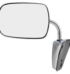 brock manual side view stainless steel low mount mirror replacement for gmc chevrolet pickup truck suv van 996220 walmart com [ 1000 x 1000 Pixel ]