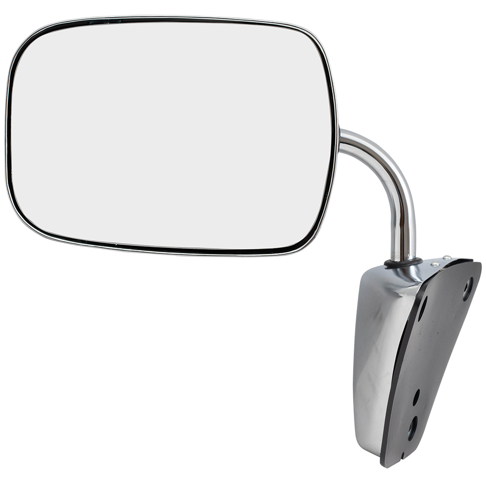 hight resolution of brock manual side view stainless steel low mount mirror replacement for gmc chevrolet pickup truck suv van 996220 walmart com