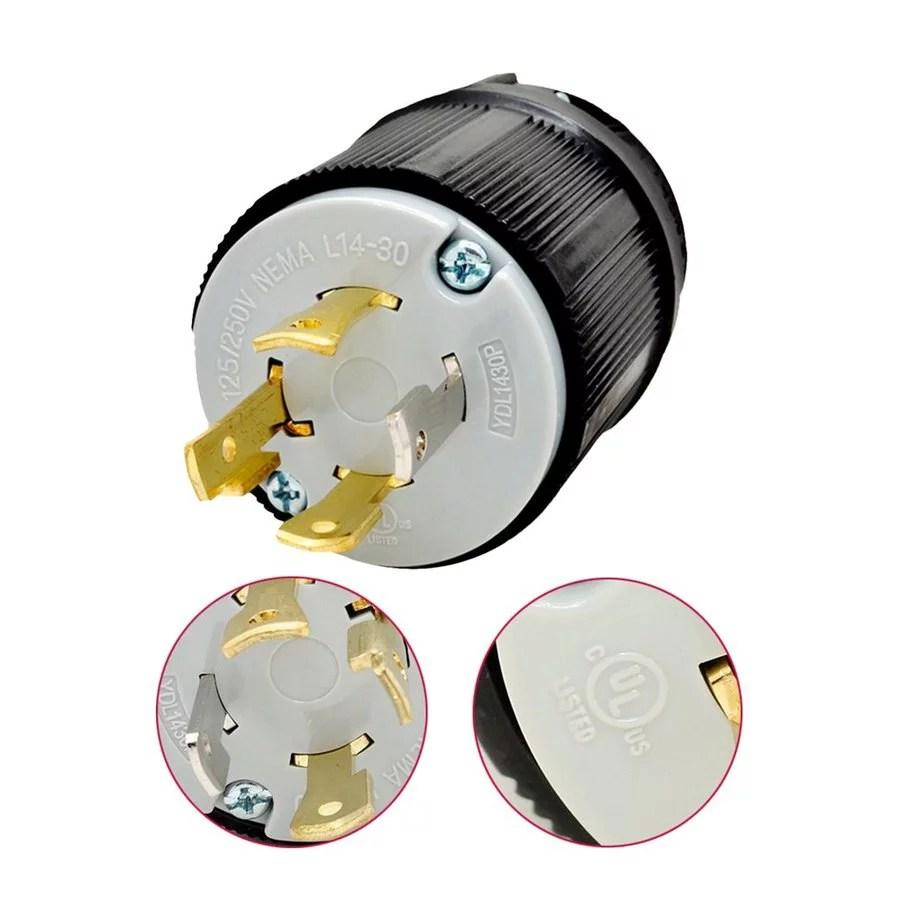 heavy duty nema l15 20p l15 30p 4 prong generator twist lock locking plug device us type 20a 30a 125 250v industrial grade [ 910 x 910 Pixel ]
