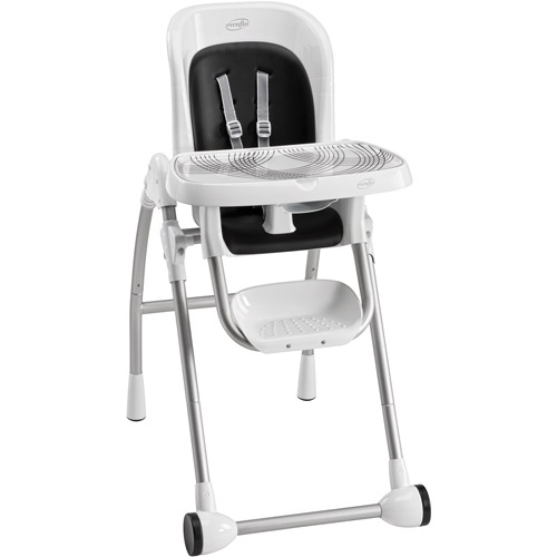 evenflo modern kitchen high chair childrens comfy chairs 300 highchair black walmart com
