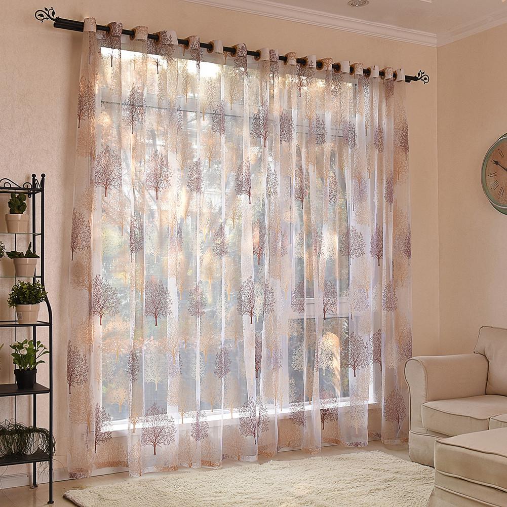 100 250 cm floral tree voile rideau salon chambre voile rideau