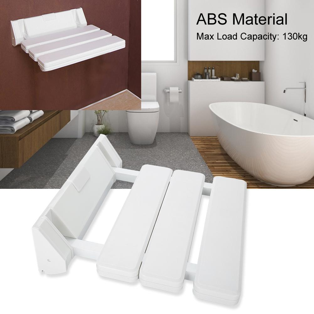 fyydes siege de douche rabattable fixe au mur banc de salle de bain pliable pour une utilisation dans la salle de sauna domestique blanc chaise de