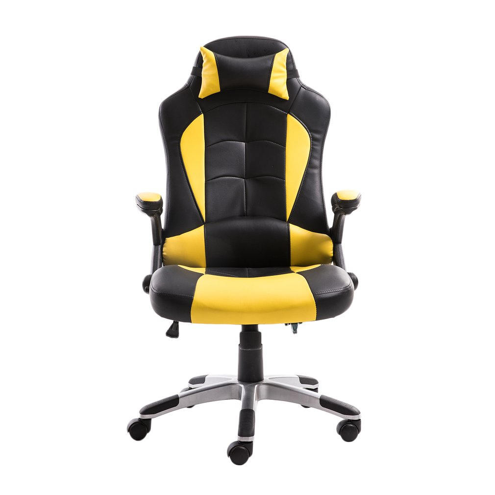 office chairs for heavy people high chair cover john lewis adjusting headrest back pu leather racing gaming with armrests on clearance sale walmart com