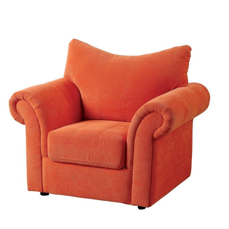 orange upholstered chair big nate dibs on this furniture of america grenna in walmart com