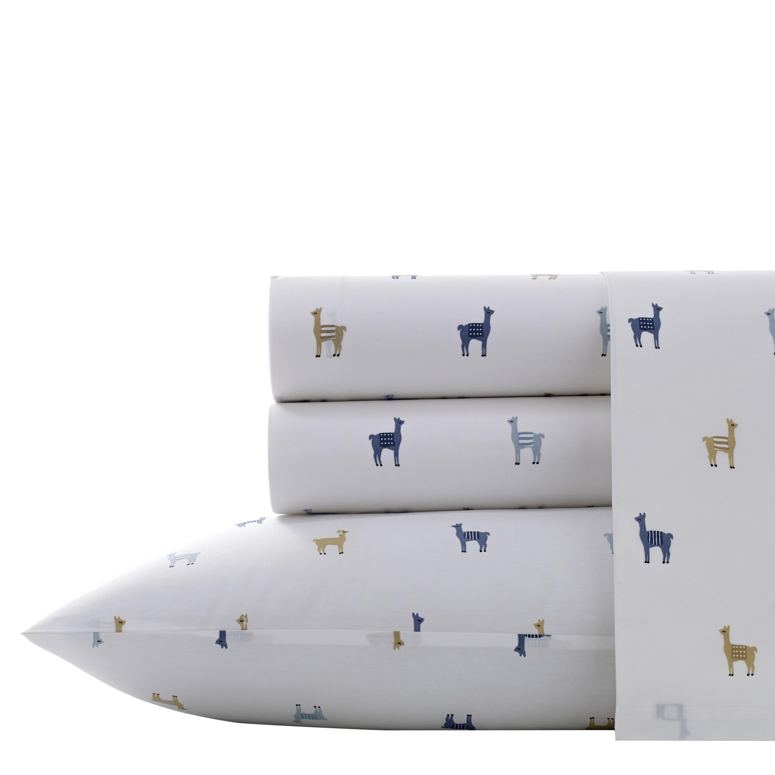 Llamas Chambray Queen Sheet Set