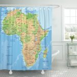 Pknmt Madagascar High Detailed Africa Physical Map Labeling African Relief Shower Curtain 60x72 Inches Walmart Com Walmart Com
