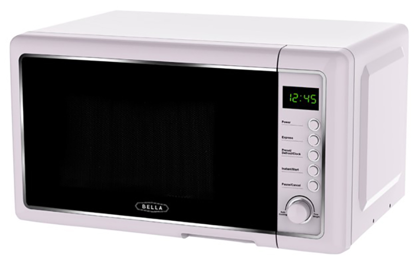 bella bmo07bpdrqb 0 7 cu ft 700 watt microwave oven rose quartz