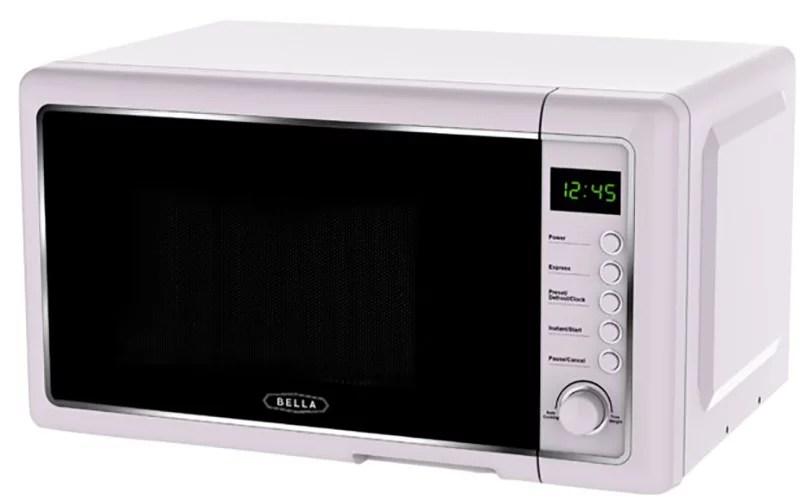 bella bmo07bpdplb 0 7 cu ft 700 watt microwave oven light purple