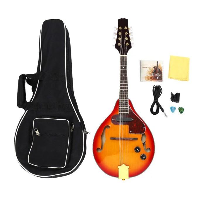 Fugacal 8 String Mandolin Musical Instrument Sunburst A Style Acoustic Electric Mandolin Walmart Com Walmart Com