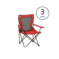Folding Quad Chair Wooden Table And Chairs For Toddler New Coleman Broadband Camping W Mesh Back Bag 3 Pack