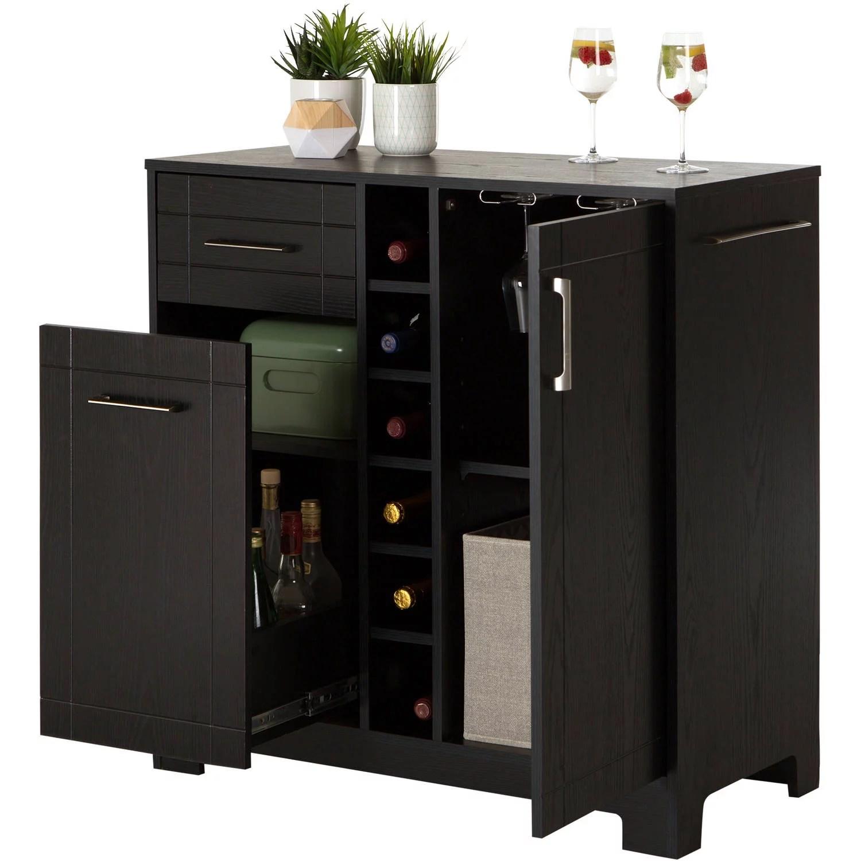 Home Mini Bar Liquor Cabinet Server Glass Storage Wine