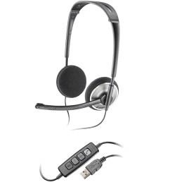 plantronics plnaudio478 audio 478 corded headset 1 black chrome walmart com [ 1904 x 1904 Pixel ]