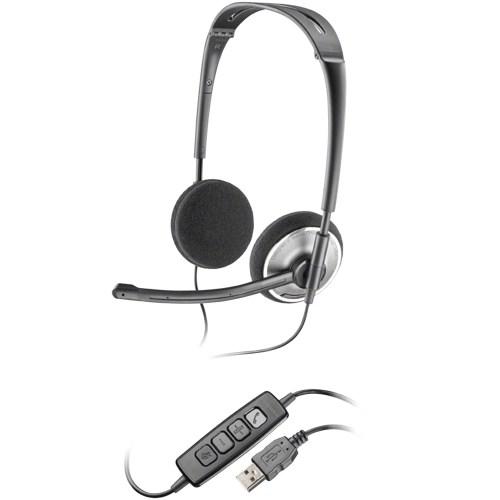 small resolution of plantronics plnaudio478 audio 478 corded headset 1 black chrome walmart com