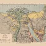 Physical Map Of Egypt Sinai Middle East Edinburgh 1878 29 06 X 23 Walmart Com Walmart Com