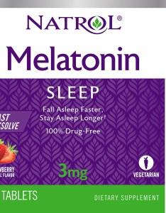 Natrol melatonin fast dissolve tablets strawberry flavor mg count walmart also rh