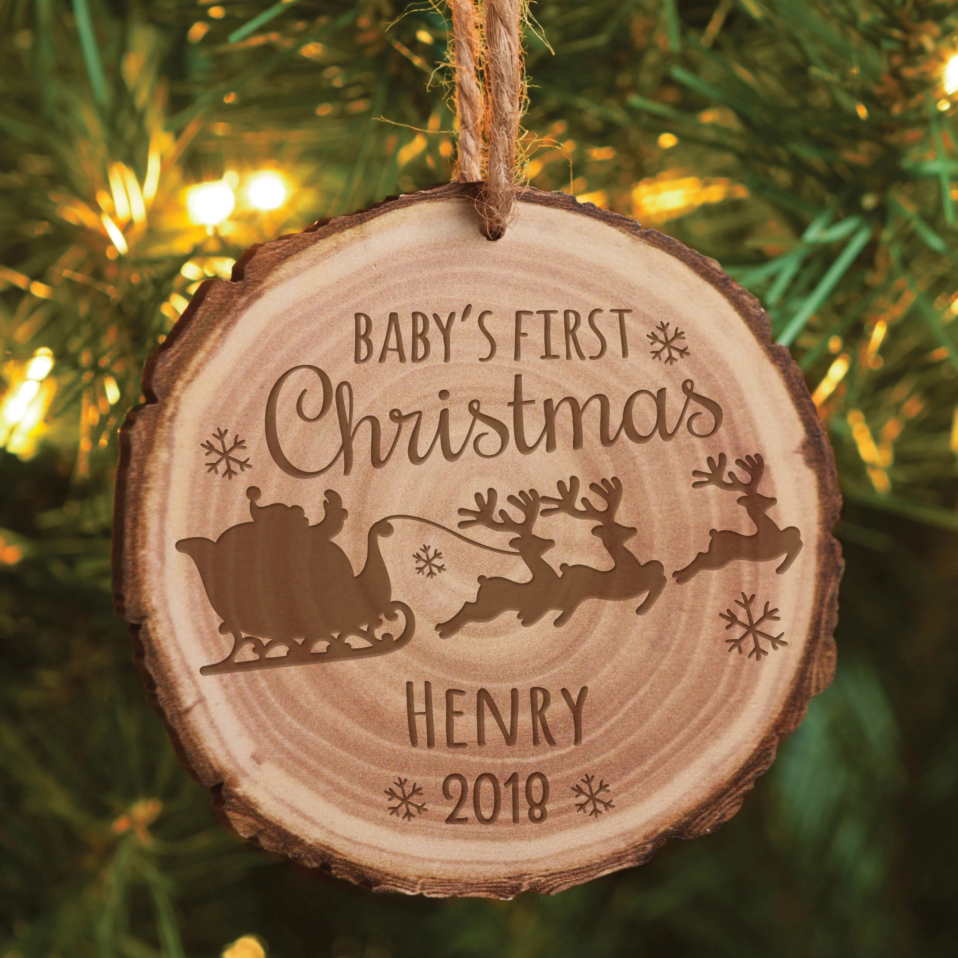 Babys First Christmas Ornaments Personalized