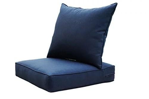 sewker indoor outdoor patio deep seat cushion set navy blue 3605