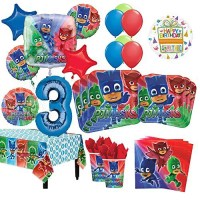 PJ Masks 3rd Birthday Party Supplies 16 Guest Kit and ...