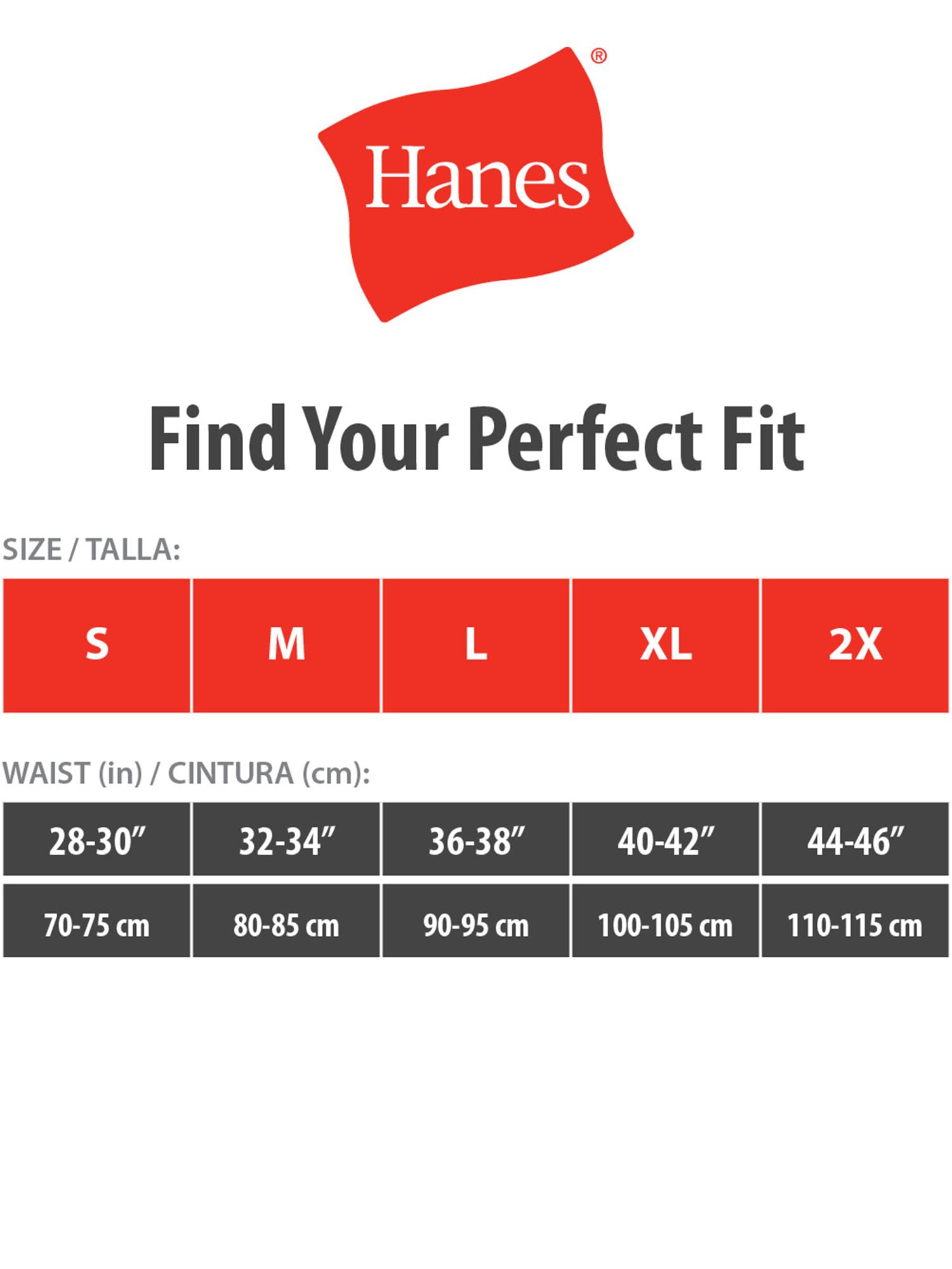 Hanes Mens Underwear Size Chart : hanes, underwear, chart, Hanes, Men's, Ultimate, Sport, Brief, 7-Pack, Walmart.com