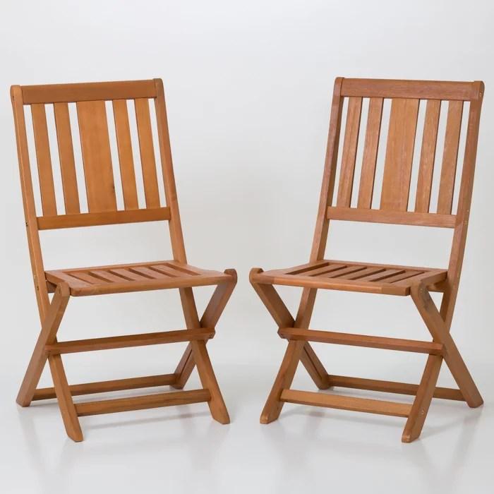 armless folding chair kochs barber set of 2 dty outdoor living eucalyptus patio furniture dining collection nbsp walmart com