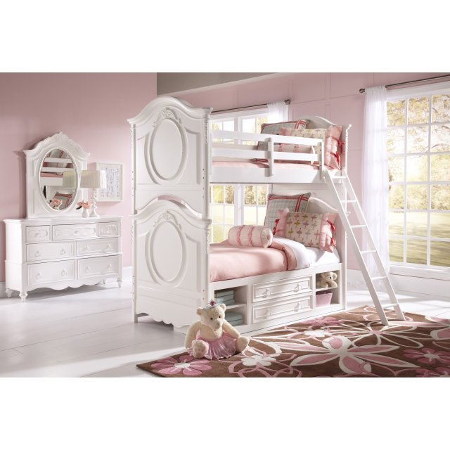 SweetHeart Twin over Twin Bunk Bed White Walmart
