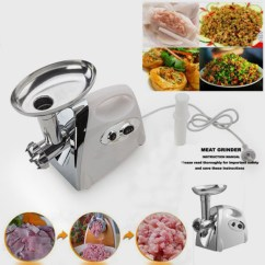 Electric Grinder Kitchen Farmhouse Faucets Zimtown Meat Stainless Steel Cutting Blade Mincer With Grinding Plates