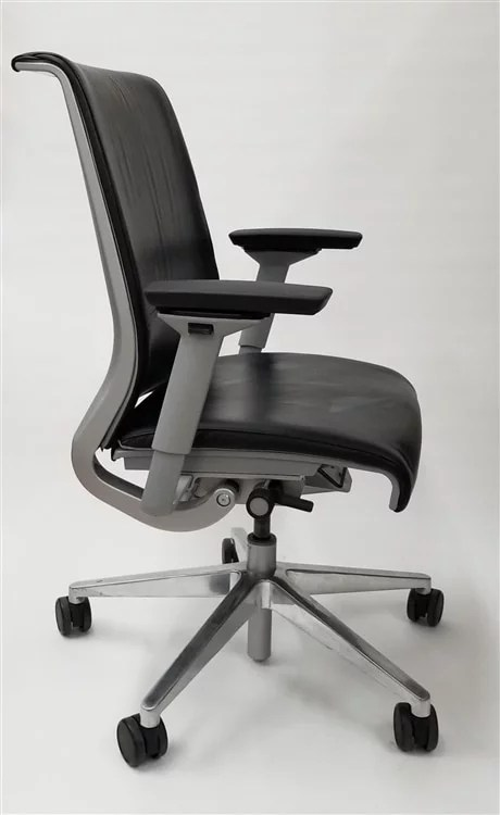 steelcase chair big leather think back gray base executive office walmart com
