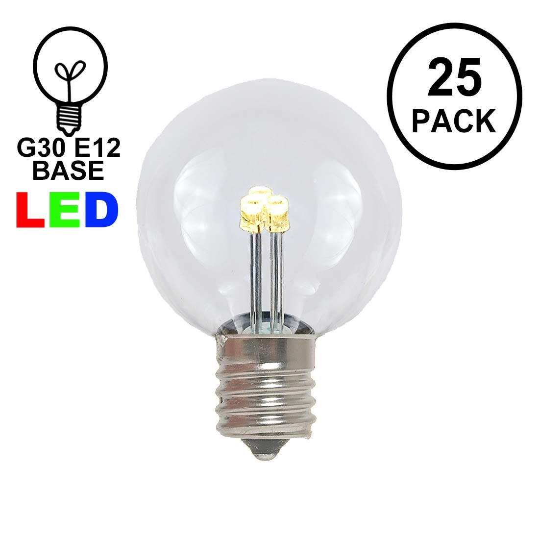 novelty lights 25 pack g30 led outdoor string light patio globe replacement bulbs 3 led s per bulb energy efficient walmart com