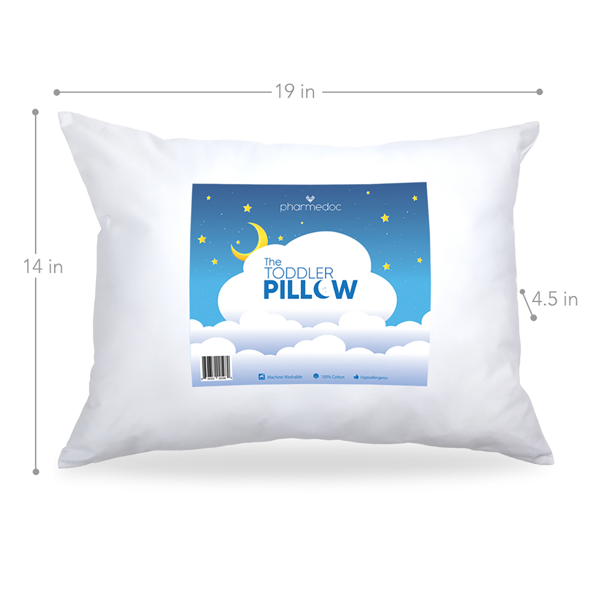 hypoallergenic toddler pillow small pillow for kids 4 patterns to choose from white