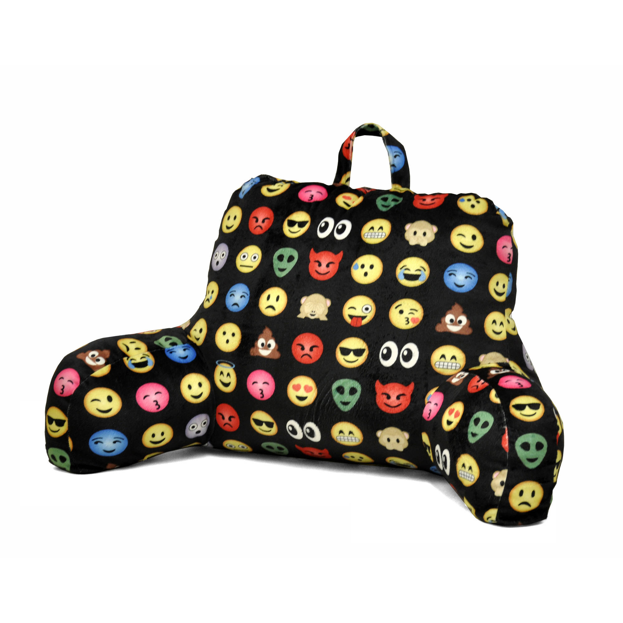 Emoji All Over Backrest Pillow Lounger Cushion Support