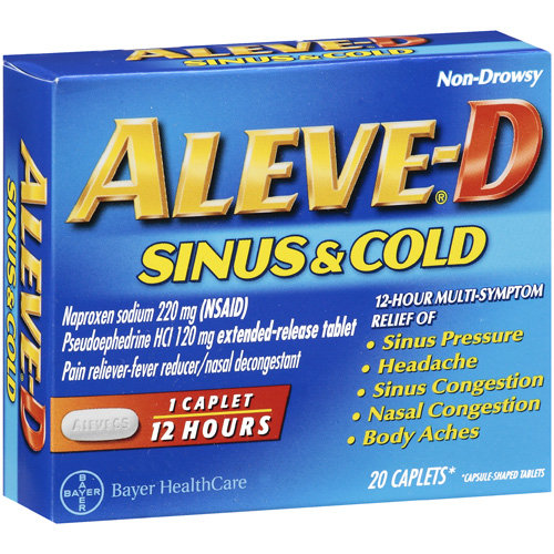 Aleve-D Sinus and Cold Caplets Multi-Symptom Relief 20 ...
