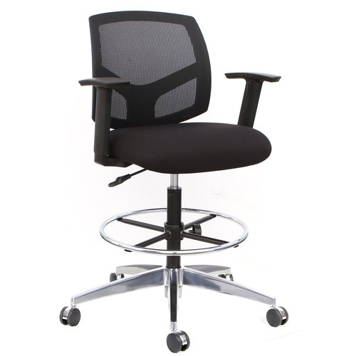 mesh drafting chair desk with footrest thornton s office supplies forge mid back walmart com
