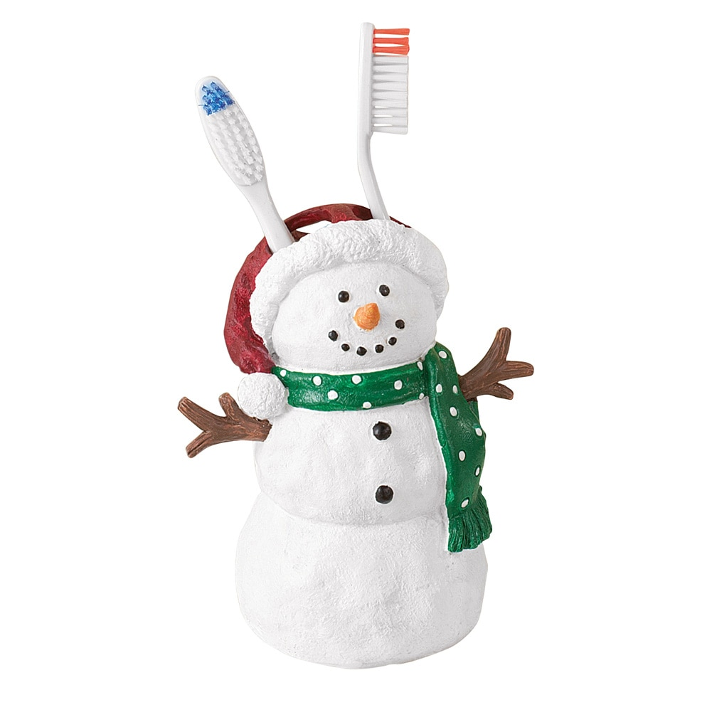 Snowman Bathroom Sets Snowman Christmas Holiday Bathroom Accessories Toothbrush Holder
