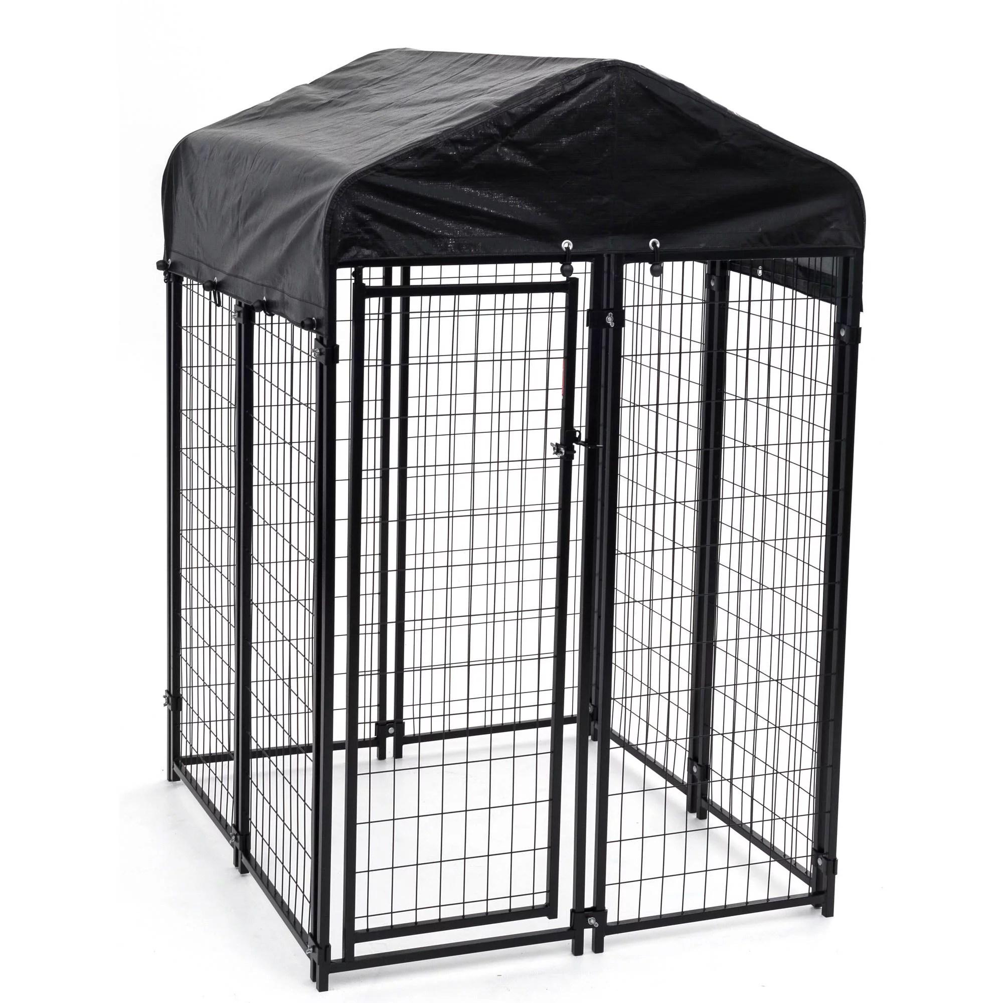 lucky dog uptown welded wire dog kennel w cover 6 h x 4 w x 4 l walmart com