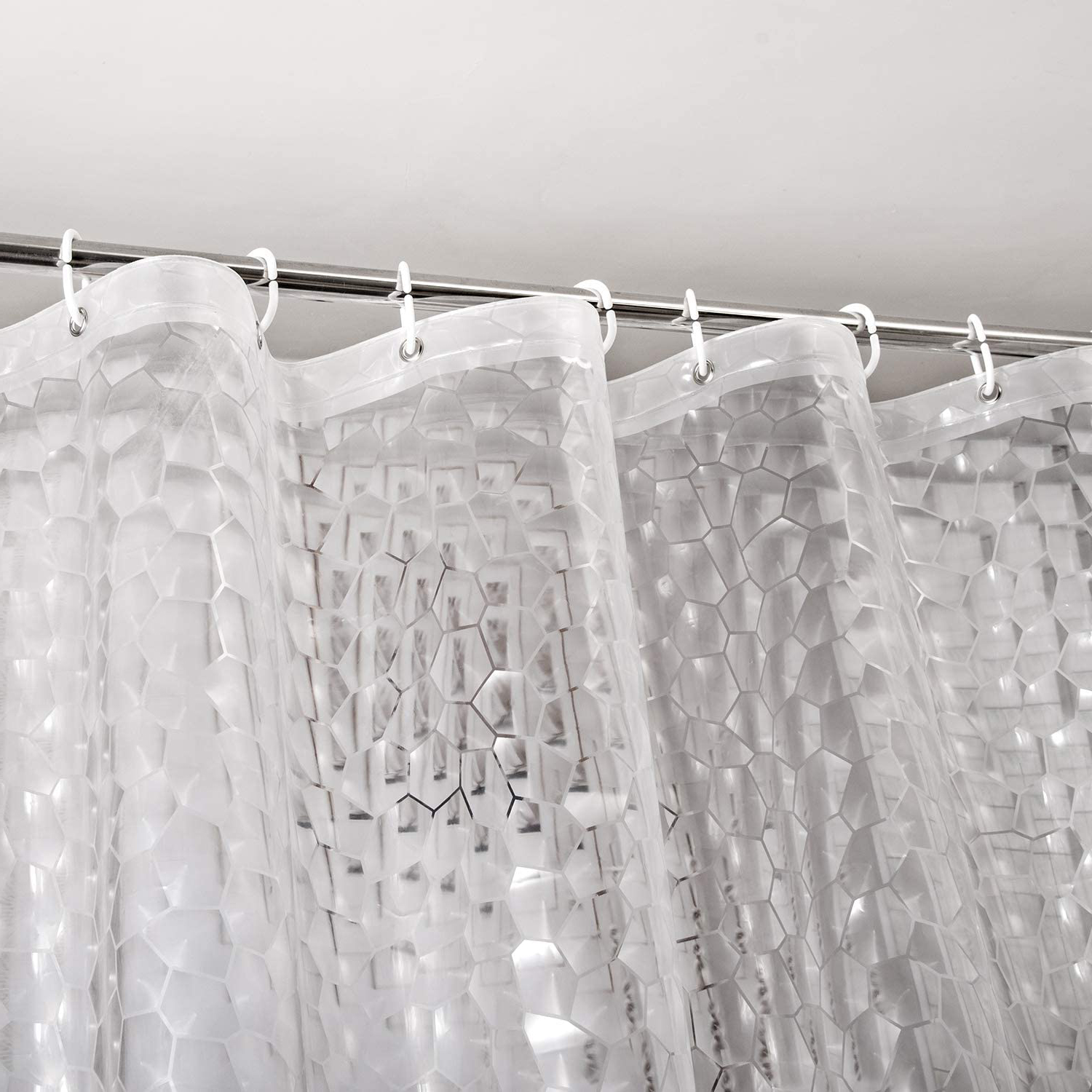 meidong eva shower curtain liner waterproof 3d water cube clear bathroom shower curtains no chemical smell extra long for shower stall bathtubs