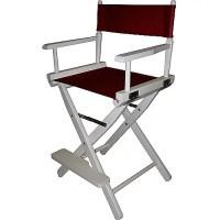 "24"" Director's Chair White Frame-Burgundy Canvas - Walmart.com"