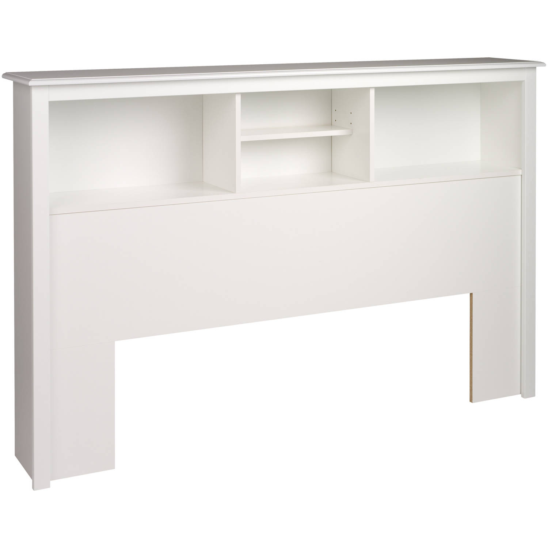 Prepac Monterey Full Queen Bookcase Headboard White