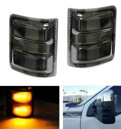ijdmtoy 2pcs smoked lens led side mirror marker lights for 2008 2016 ford f250 f350 f450 f550 super duty walmart com [ 1500 x 1500 Pixel ]