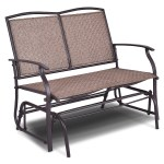 Gymax Patio Loveseat Glider Rocking Bench Double Chair With Arm Backyard Outdoor Walmart Com Walmart Com