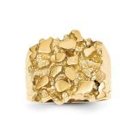 14K Yellow Gold Men's Nugget Ring - Walmart.com